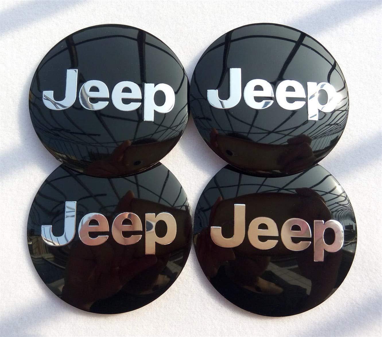 Since 4X 56mm Auto mozzo Centro coprimozzo Copertura Emblema Distintivo Adesivo per Adatto per Jeep