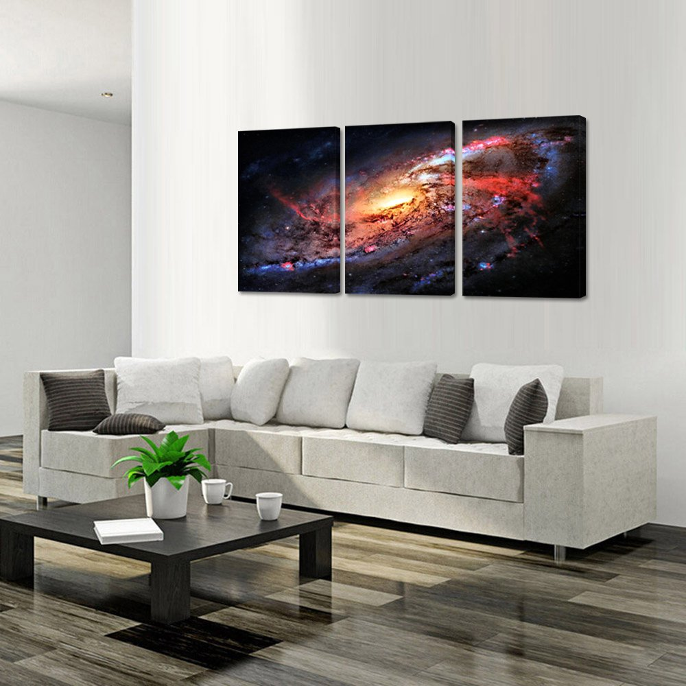 Amazon.com: Kreative Arts Space and Universe Stretched Canvas Print ...