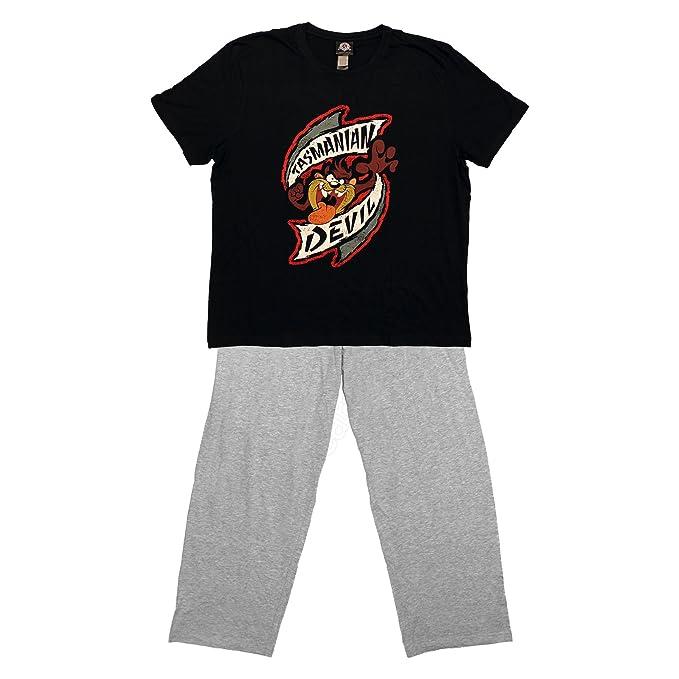 Oficial de Demonio de Tasmania Taz – Juego de Pijamas Top & Pantalones de Lounge XL