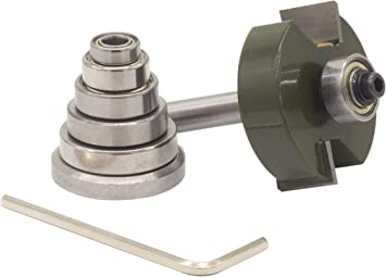 7 Bearing Set 1//2 Cutting Height Sabre Tools 1//2 Rabbet Router Bit Set For Woodworking 1//2 Shank