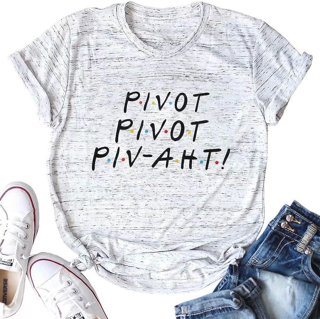 DUTUT Friends TV Show Shirt Women Funny Pivot Friends Shirt Tops Short Sleeve Tee Shirt