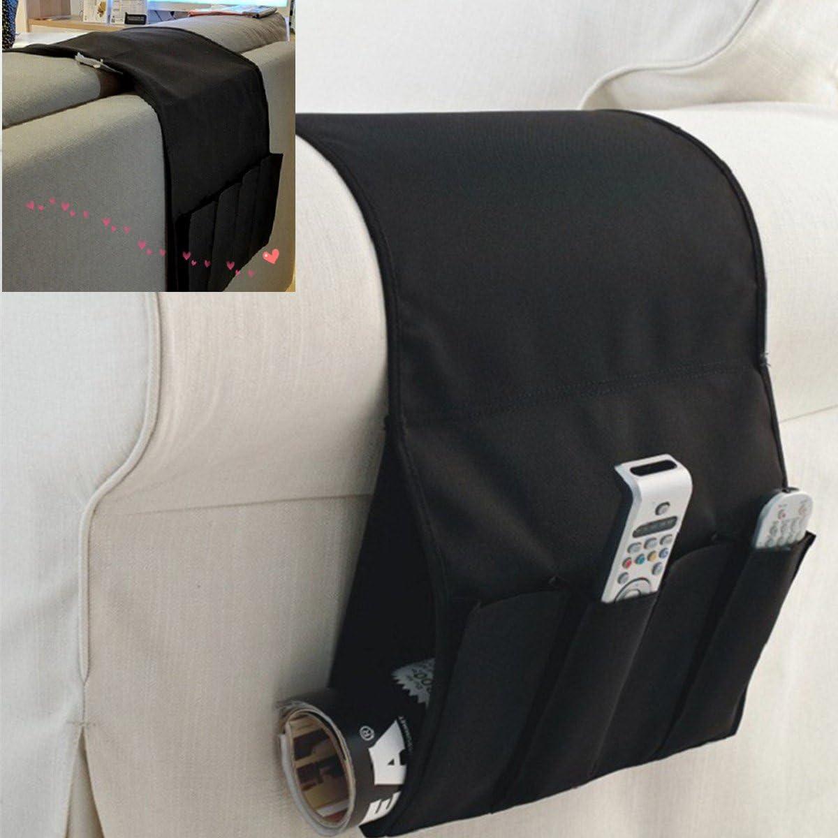 Books TV Remote Control WINOMO Zipped Pockets Hanging Storage Sofa Bed armrest Storage Bag Pouch iPhone Magzine iPad