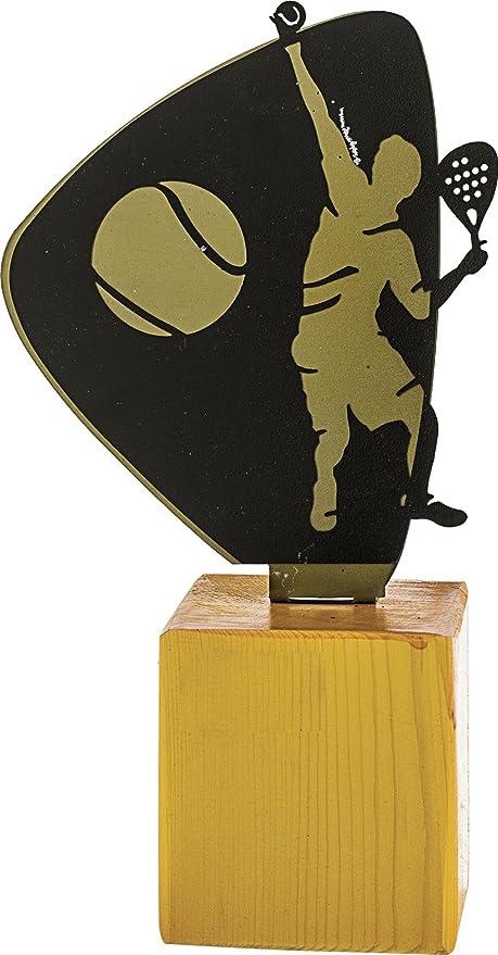 Art-Trophies TP438 Trofeo Deportivo Pádel, Dorado, 28 cm ...