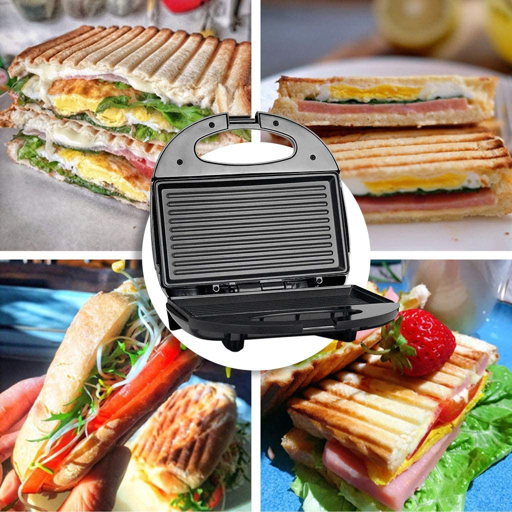 UMFun Panini Machine Sandwich Machine Home Breakfast Barbecue Non-Stick Pan Toaster Burger