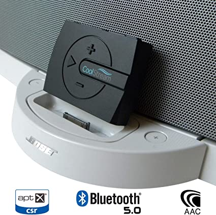 DockLinQ Pro Bluetooth 5.0 aptX Low Latency Adapter for Bose Sounddock and 30 pin iPod iPhone Music Docking Station