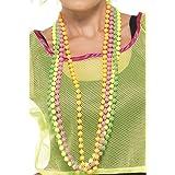 Smiffy's - Collana di perle fluorescenti a 4 fili