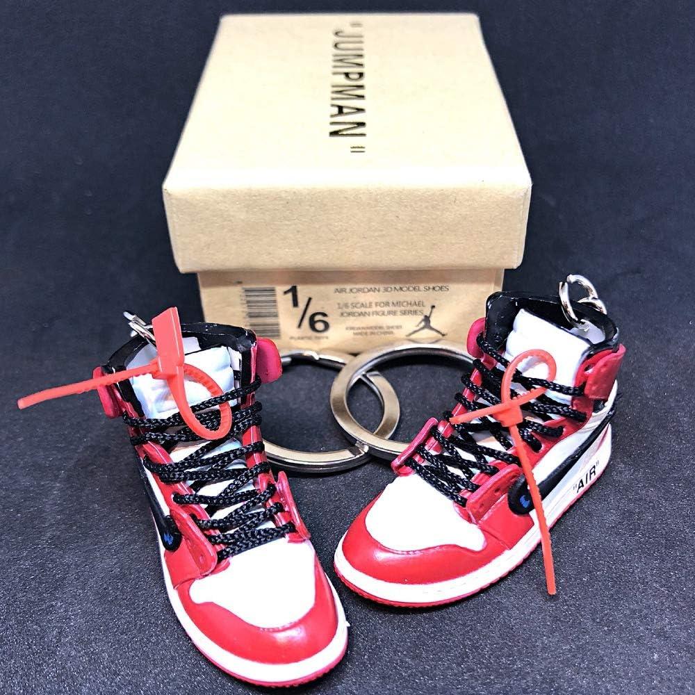 Amazon.com: Pair Air Jordan 1 I High Retro Off White Chicago ...
