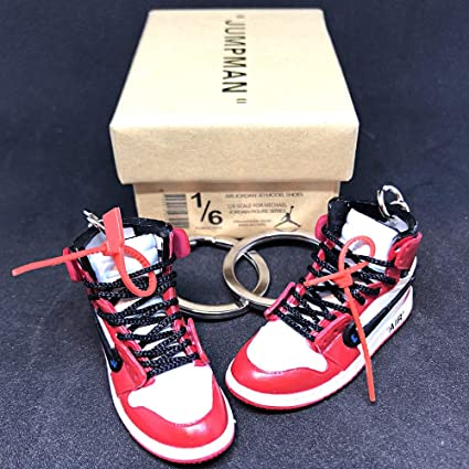 promo code 74df3 b44fb Amazon.com: Pair Air Jordan 1 I High Retro Off White Chicago ...