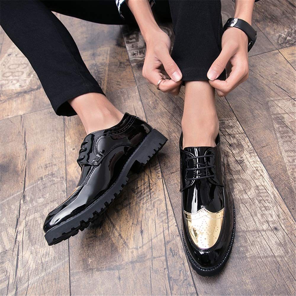 DADIJIER Saco de Negocios Oxford Casual Simple Estilo británico clásico de los Hombres Que Talla Zapatos de Charol de Brogue Resistente a la abrasión (Color ...