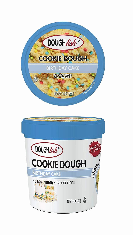 Taste of Nature Doughlish Edible Cookie Dough - Birthday Cake 14oz Pint, 6ct