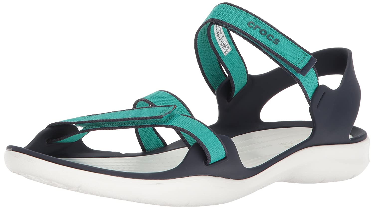 Crocs Swiftwater Webbing Sandales Damens Tropical Teal 2018 2018 Teal Sandalen Tropical Teal e4be11