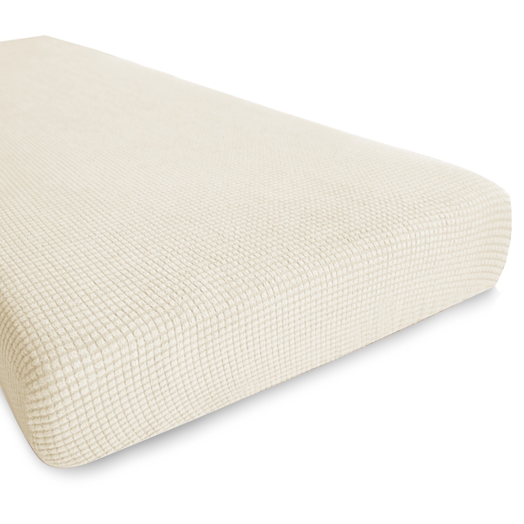 Hokway Stretch Sofa Slipcovers 3 Cushion Couch Sofa Covers Couch Cushion Protector Covers (Loveseat, (Cushion) Off-White)