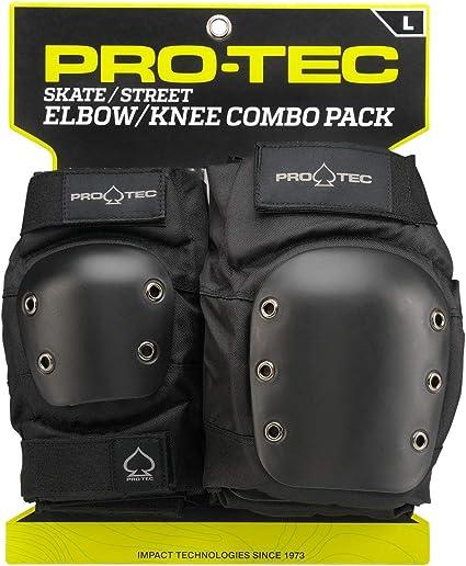 Pro-tec street knee and elbow pad set black adult sizes FREE J/&J/'S STICKER+BADGE