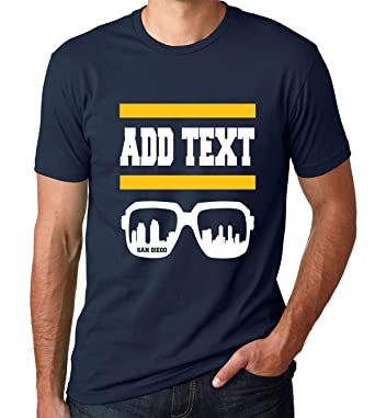 454aceeb Image Unavailable. Image not available for. Color: San Diego - Custom T- Shirt - Add Your Own Text - Football ...