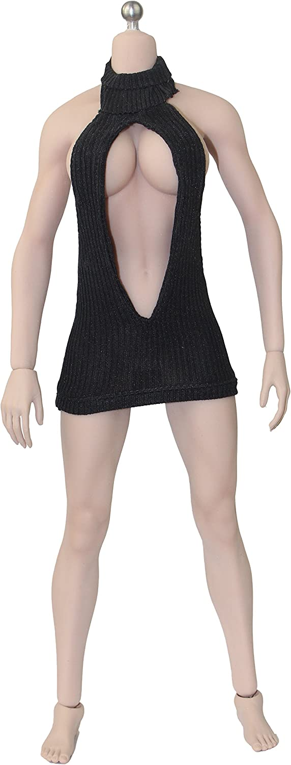1//6 Scale Female Dolls Clothing Black Teddy Leotard for Hot Toys 12/'/' Figure