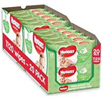 Huggies Natural Care Baby Wipes,2 x Pack of 10 x 56 Natural Baby Wipes (Total 1120 Wipes)