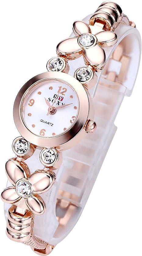 Amazon.com: Top Plaza - Reloj de pulsera para mujer y niña ...