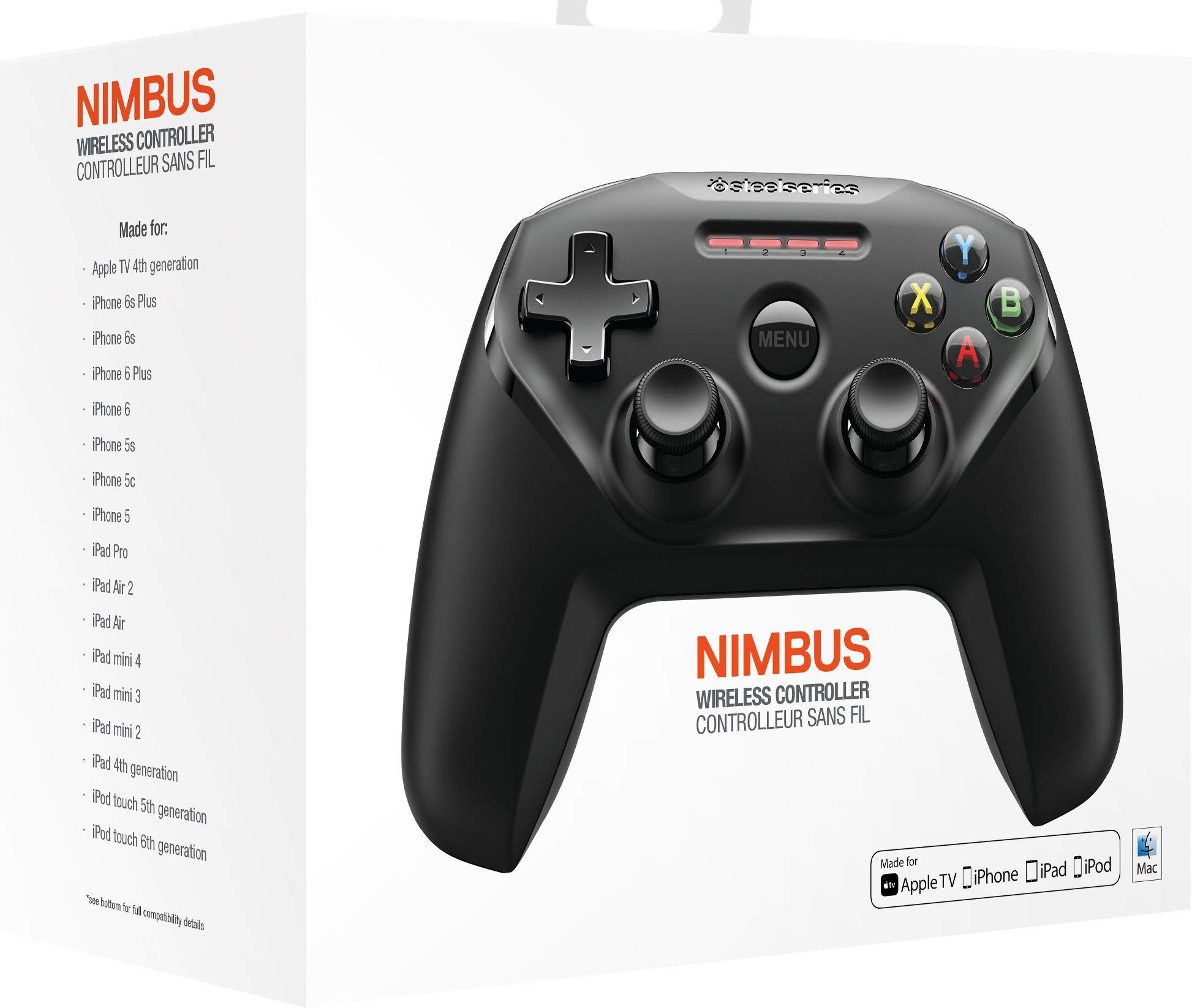 SteelSeries Nimbus Bluetooth Mobile Gaming Controller - IPhone, iPad, Apple TV - 40+ Hour Battery Life - Mfi Certified - Supports Fortnite Mobile by SteelSeries (Image #8)