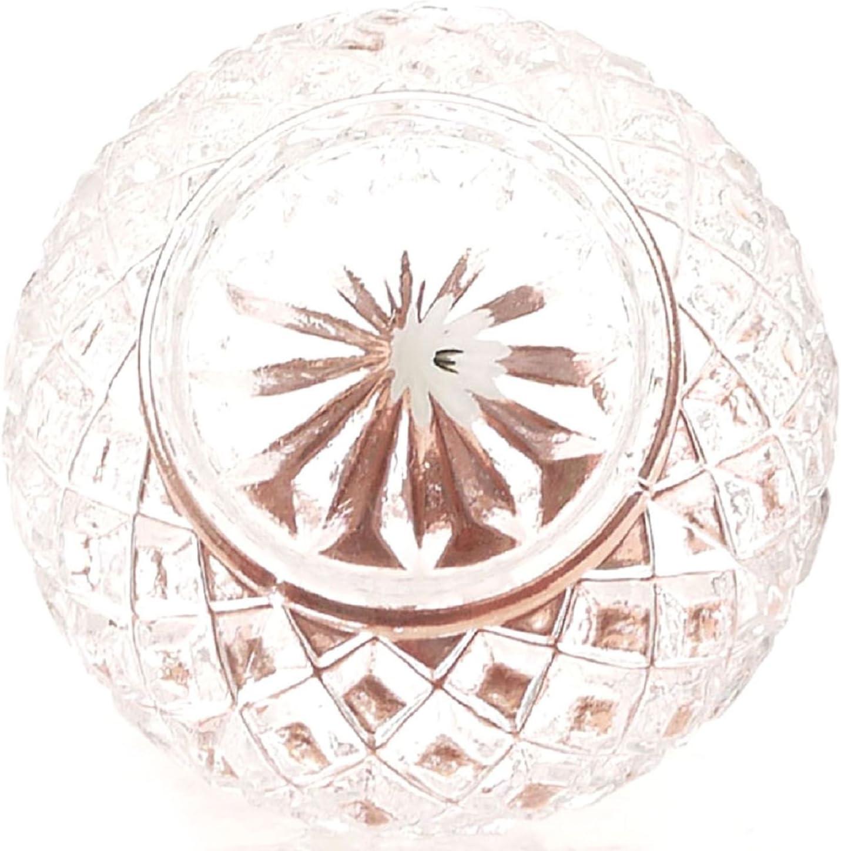 Couleur clair Bouteille en verre et laiton Pulv/érisateur Or rose Purism Style Plante Mister