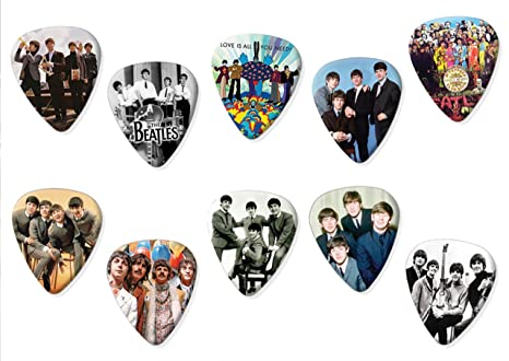 The Beatles (limitado a 100) Juego de 10 púas de guitarra acústica eléctrica