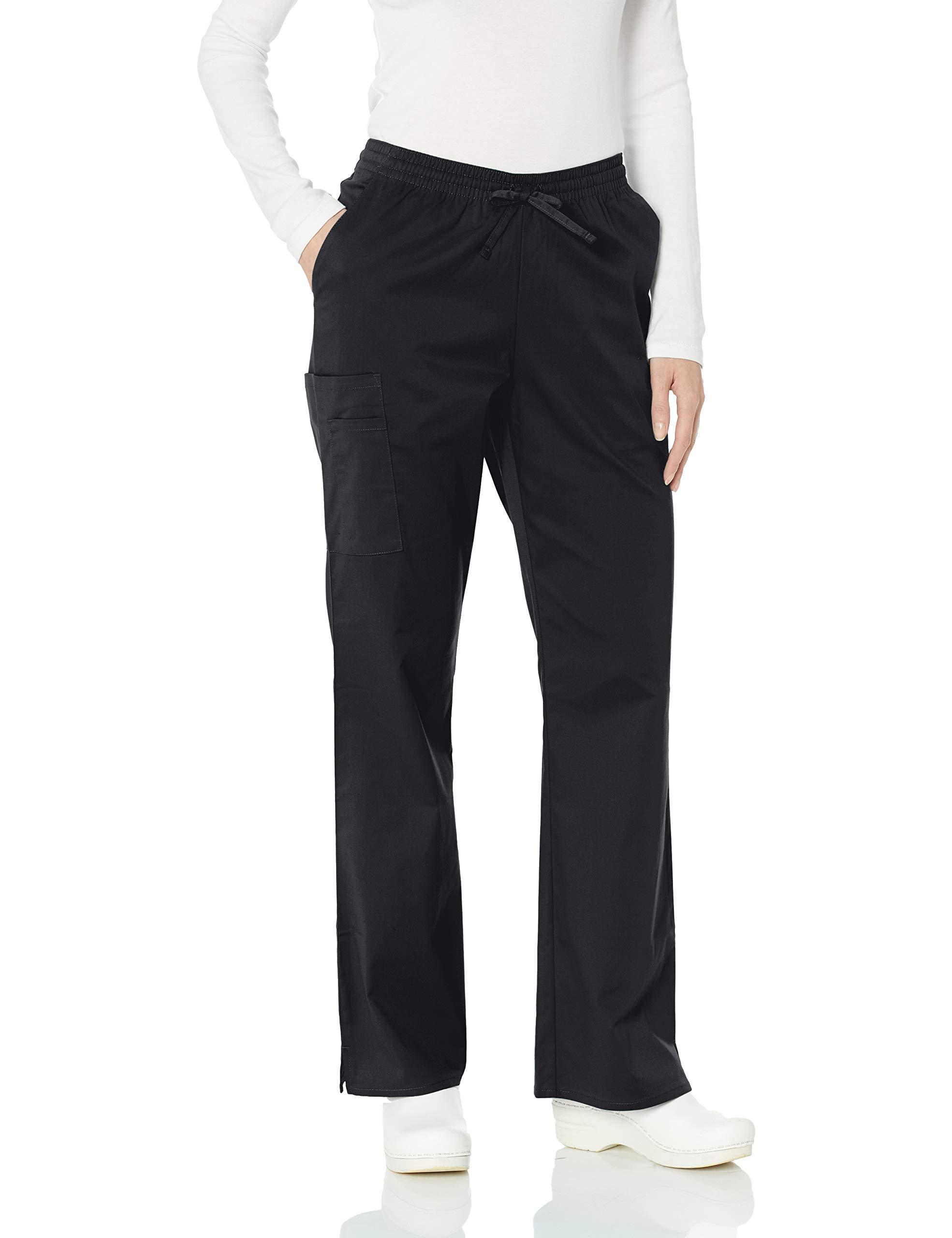 Amazon Essentials Women's Quick-Dry Stretch Scrub Pant, Black, Medium by Amazon Essentials