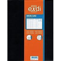 Générique EXDI Agenda Semainier Mercure 21 x27 cm 1S / 2P Noir Civil 2019