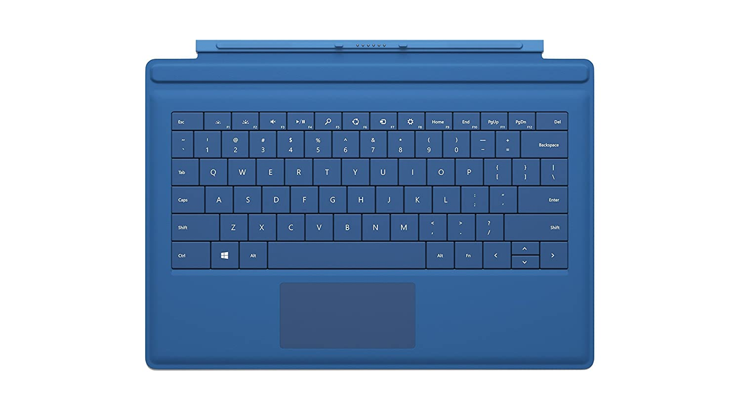 new microsoft surface pro 3 type cover keyboard cyan ebay. Black Bedroom Furniture Sets. Home Design Ideas