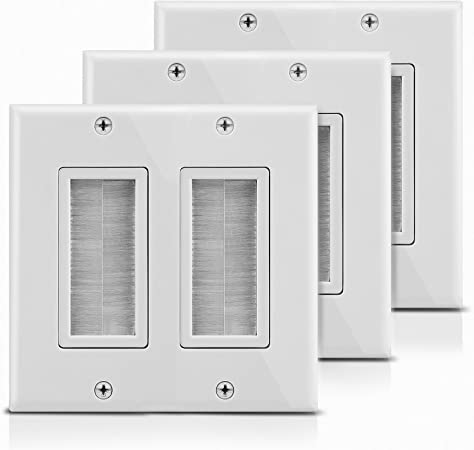 3x Low Voltage 3 Gang Mounting Bracket Wall Plate Mount Brackets Drywall