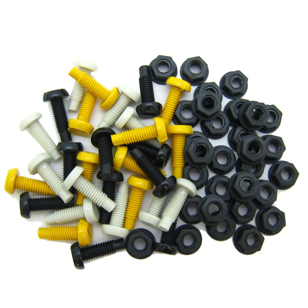 All Trade Direct 30 Pk Mixed Colour Plastic Number Plate Bolts & Nuts