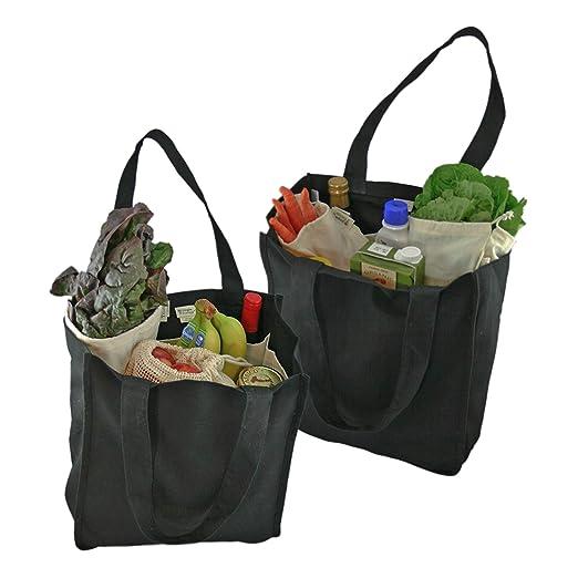 Simple ecología algodón orgánico Deluxe - Bolsa de la compra reutilizable con botella mangas: Amazon.es: Hogar