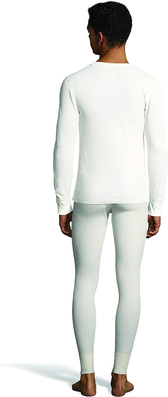 X-Temp Technology /& Organic Cotton Hanes Mens Waffle Knit Thermal Crew Neck Long Sleeve T-Shirt FreshIQ
