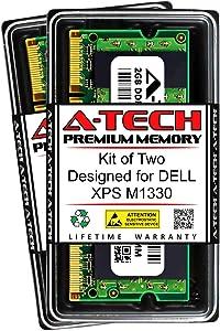 A-Tech 4GB (2 x 2GB) RAM for DELL XPS M1330   DDR2 667MHz SODIMM PC2-5300 200-Pin Non-ECC Memory Upgrade Kit