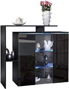 Glass Door Wooden Storage Cabinet Living Rooom Decoration Furniture Wine Bar Multipurpose Entryway