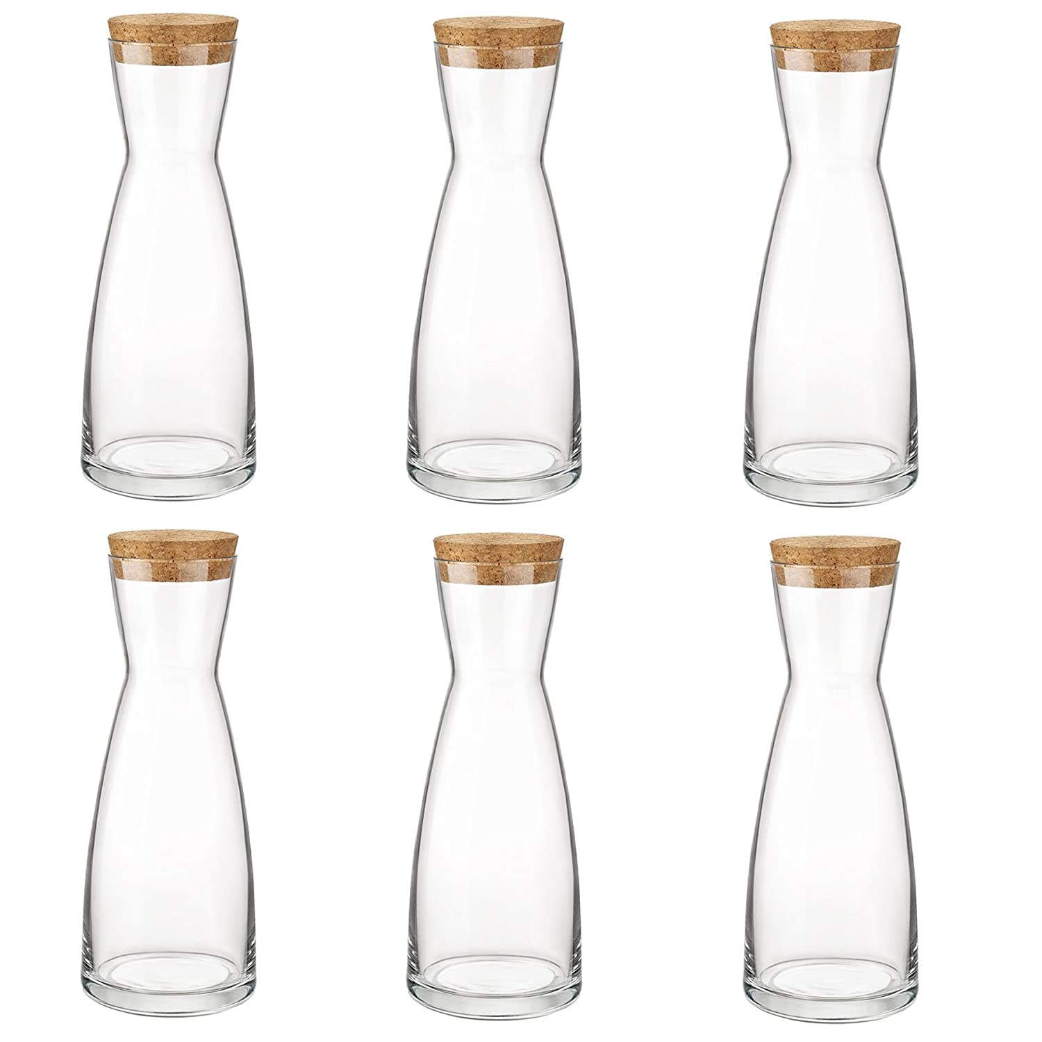 Bormioli Rocco Ypsilon Water Jug Carafe Decanter With Lid 285ml - Pack of 6