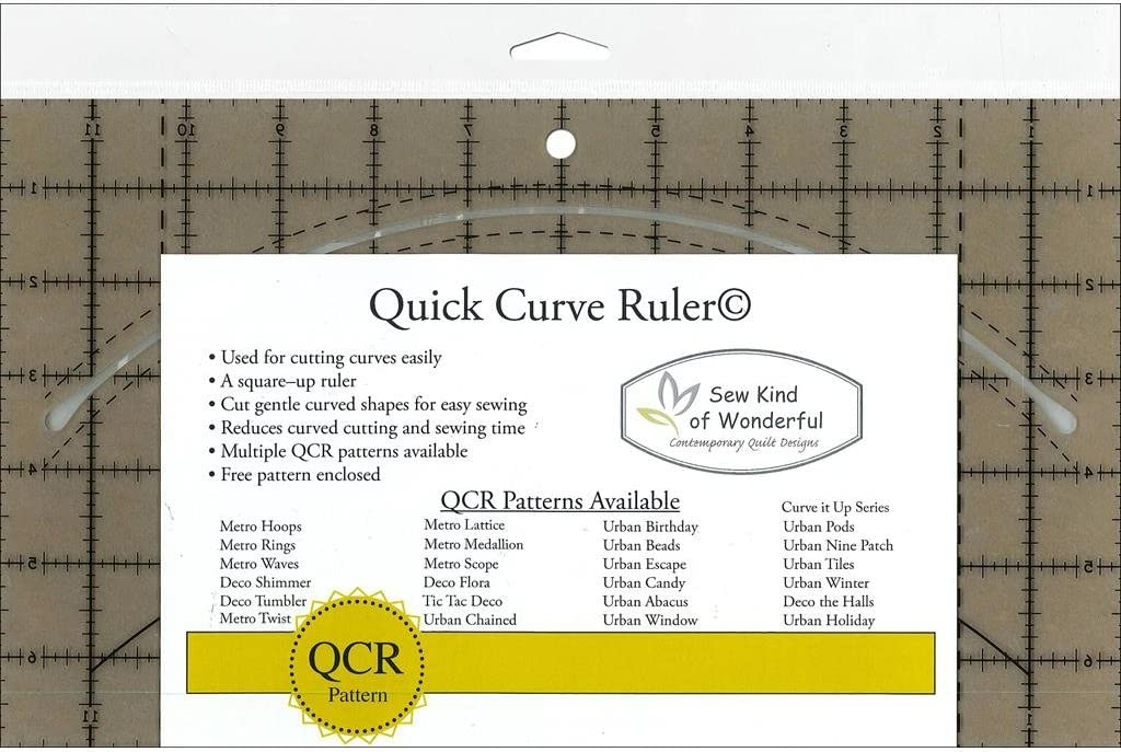 Instructions Gentle Curves Square It Up Modern QUICK CURVE RULER Pattern