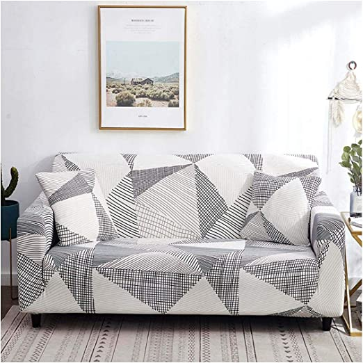 Amazon Com Line Sofa Cover Cotton Stretch Couch Cover Elastic Sofa Covers For Living Room Slipcovers For Armchair Furniture Cover Color 12 1 Seat 90 140cm Kitchen Dining