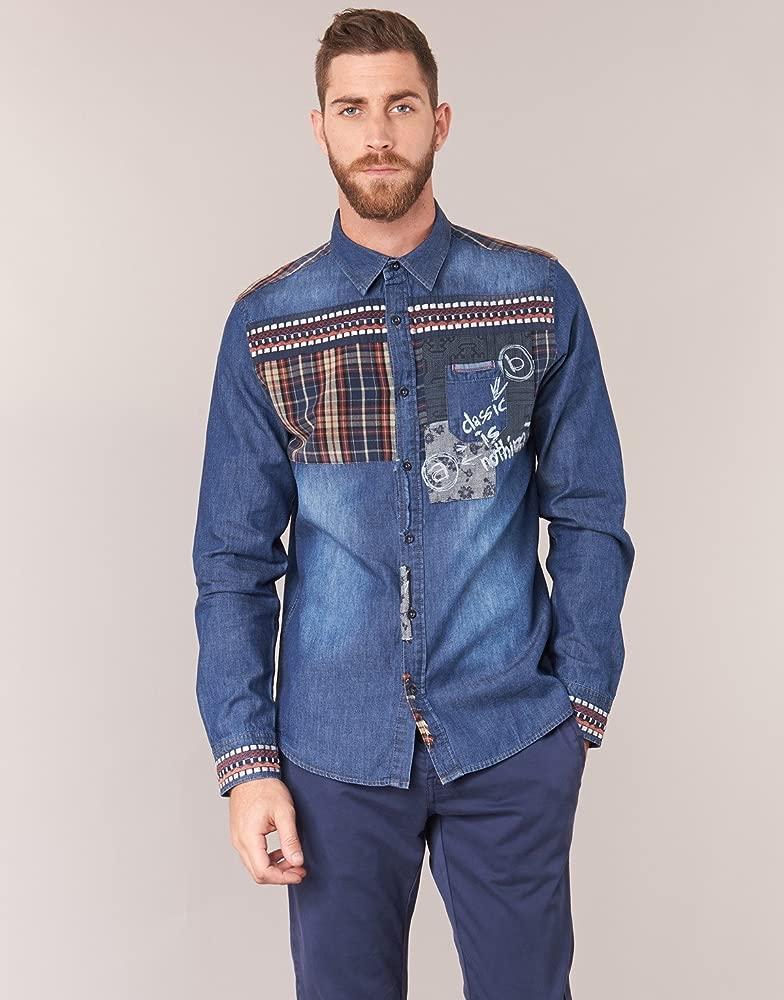 Desigual - Camisa Casual - para Hombre 5053 XX-Large: Amazon.es ...