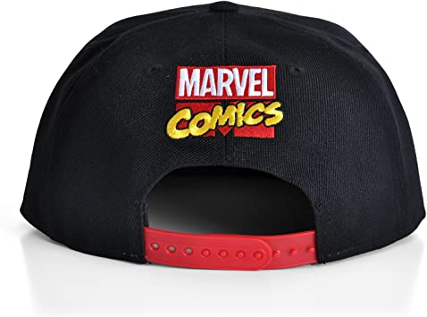 Marvel Comics Cap Logo Flat Back Gorra Gorro Pantalla: Amazon.es ...