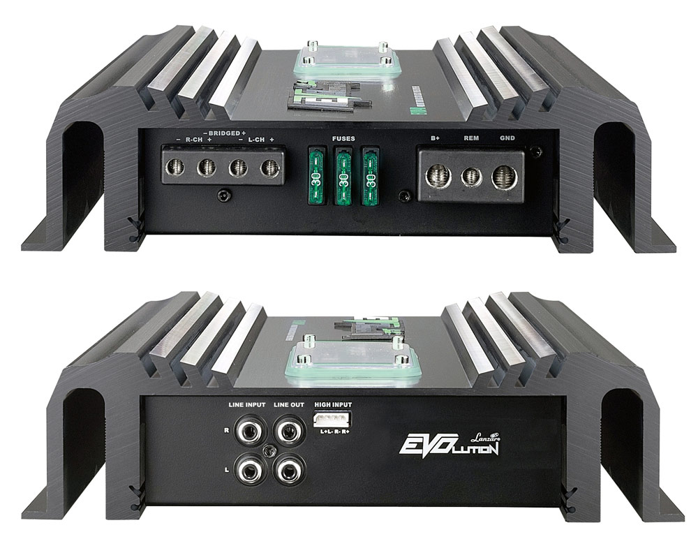 amazon com lanzar ev294 evolution series 3200 watt 2 channel smd 480 watt 2 channel smd class ab darlington power amplifer