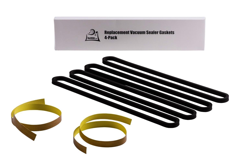 FoodSaver Repair Kit: Upper/Lower Gasket, Heat Strip Replacement 4 Foam Gaskets, 2 Strips Fits V2200, V2400, V2800, V3000, V3200 Series Vacuum Sealers Replaces Food Saver T910-00075 by OutOfAir