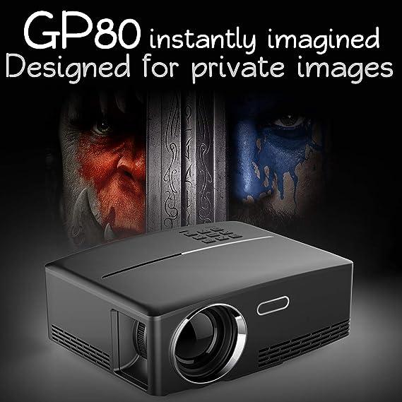 GP80 Proyector 720P Inicio Proyector Pantalla Grande: Amazon.es: Hogar