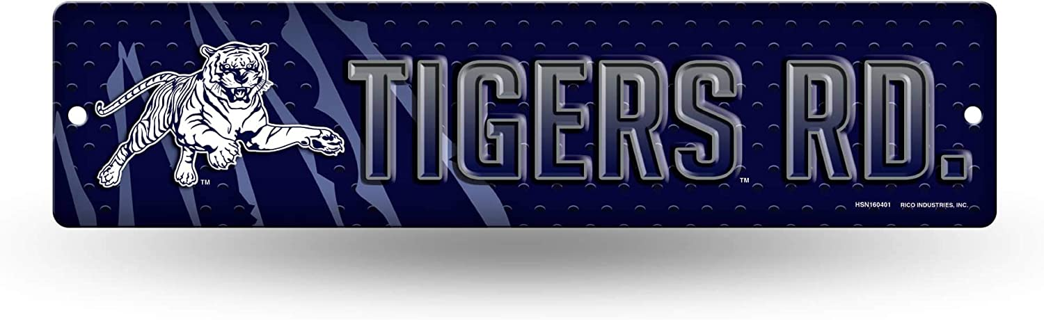 NCAA Rico Industries  16-Inch Plastic Street Sign D/écor Jackson State Tigers