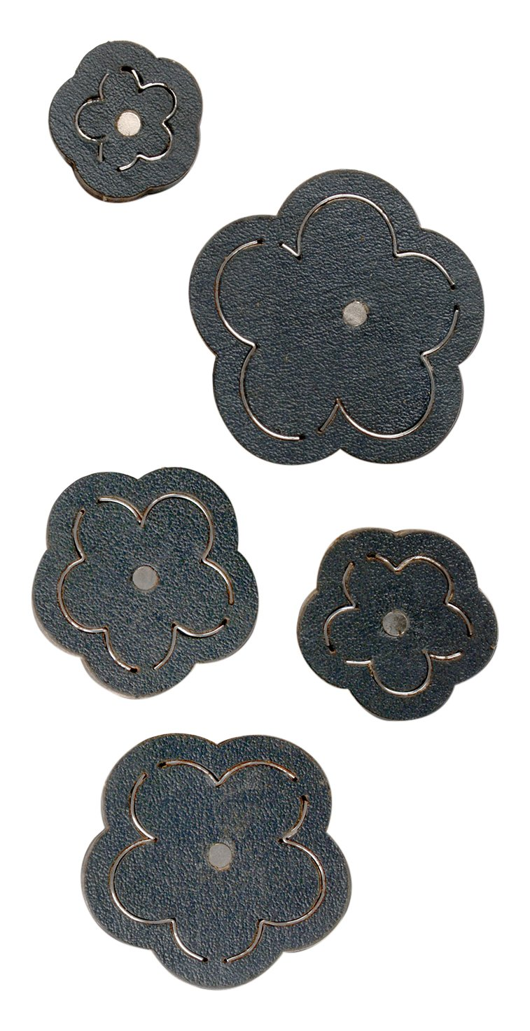 Sizzix 660657 Movers and Shapers Magnetic Die Set, Wildflower by Jill MacKay (5-Pack)