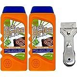 Hob Brite Genuine Oven Cooker Ceramic Cream Cleaner 300ml & Scraper Kit (2 Cream Cleaners, 1 Scraper)