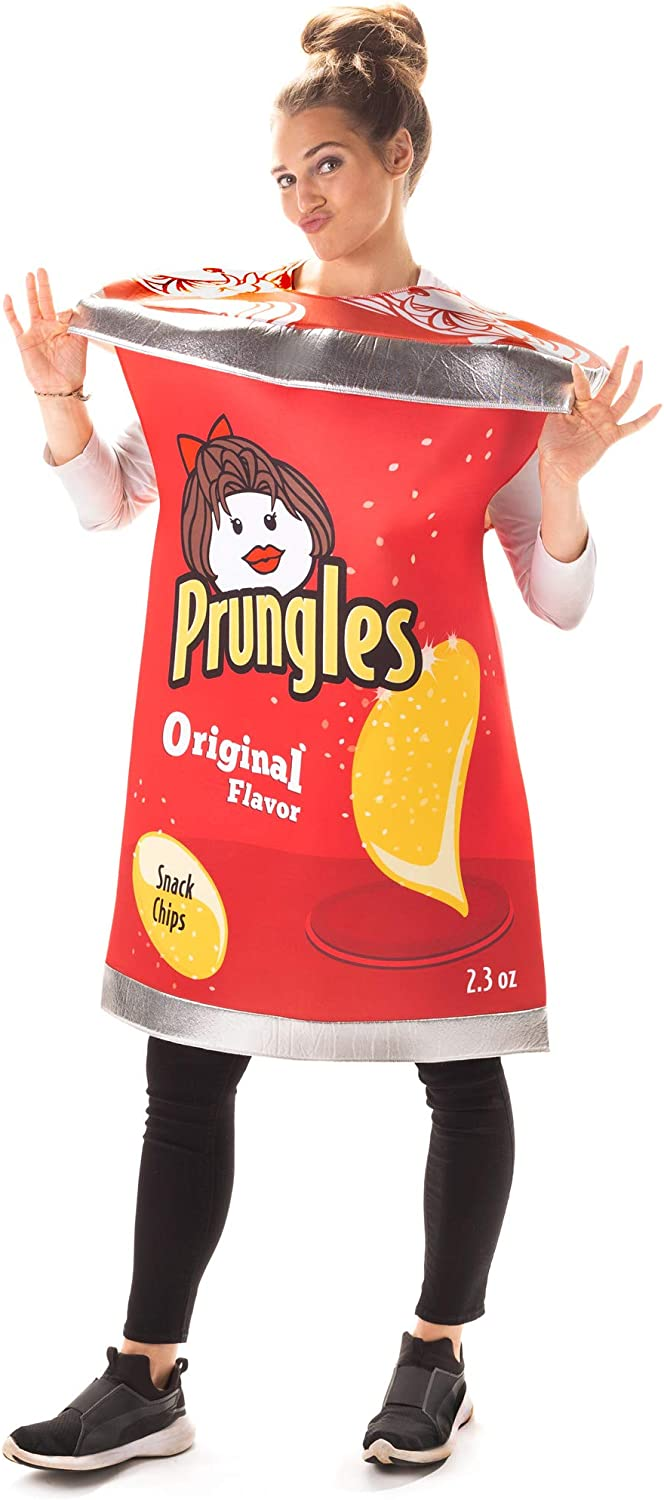 Can of Prungles Halloween Costume - Funny Potato Chips Food Outfits for Adults