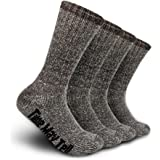 Time May Tell Mens Merino Wool Hiking Cushion Socks Pack (2/4 Pair,6-13 Size)