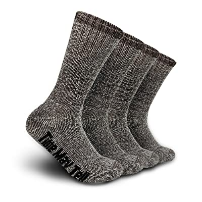 Time May Tell Mens Merino Wool Hiking Cushion Socks Pack