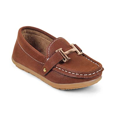 be6257302a1 KITTENS Boys Brown Slip-on Loafers  Buy Online at Low Prices in India -  Amazon.in