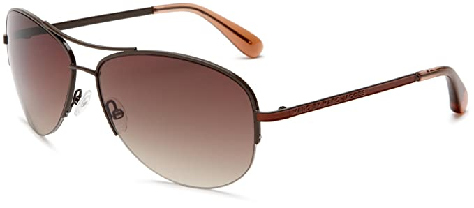 966029f63 Marc by Marc Jacobs Women's MMJ 119/S Aviator Sunglasses,Brown Frame/Brown