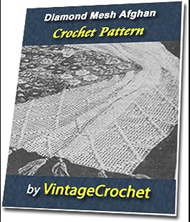 Diamond Mesh Afghan Vintage Crochet Pattern